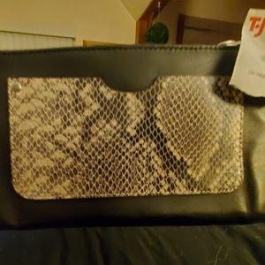 Black Leather & Snakeskin Wallet